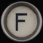 F Typewriter Key