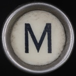 M Typewriter Key